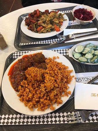 Repas du Boston Deli, typique et fait maison