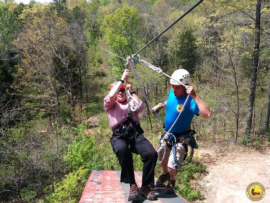 Mammoth Cave's Canopy Zipline Tour: Clay ready to zip
