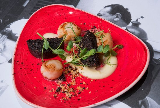Pan Seared Scallops with Morcilla