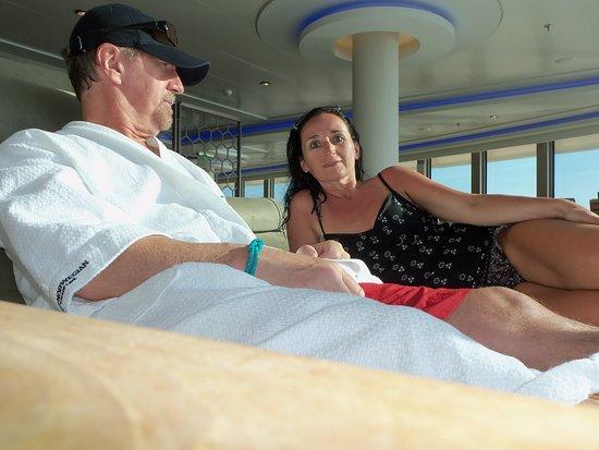 Norwegian Getaway: Relaxing in the wonderful private spa area