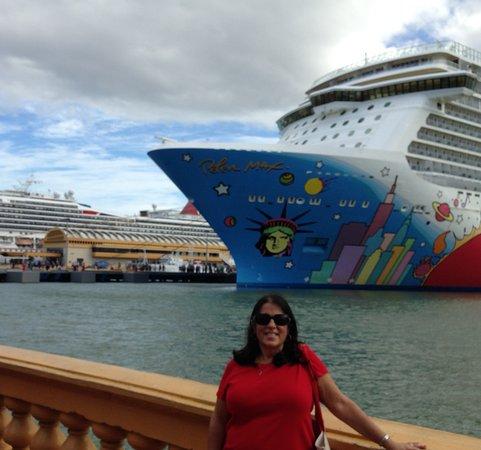 Norwegian Breakaway: In port at Puerto Rico