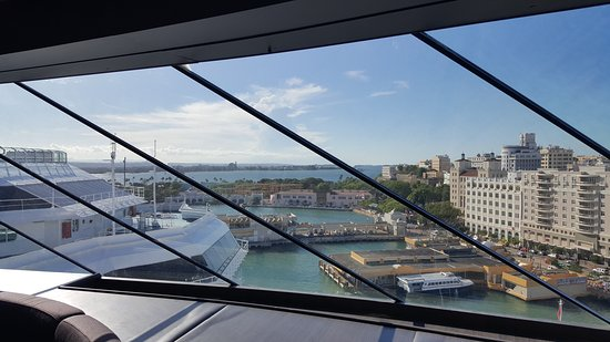 MSC Divina: view from Top Sail Lounge