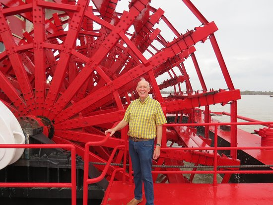 American Queen: John by the paddlewheel