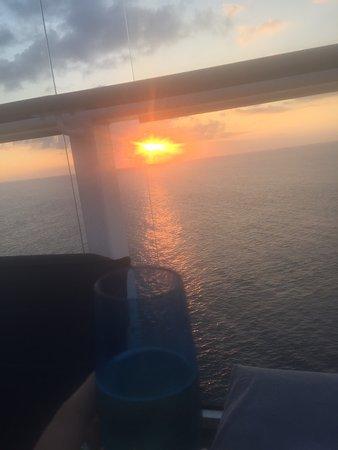 Celebrity Reflection: Champagne sunset