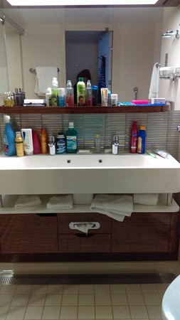 Norwegian Breakaway: SPACIOUS BATHROOM