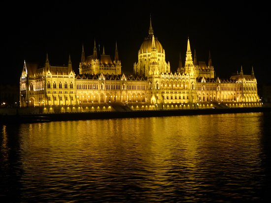 Viking Var : Budapest parliament cruise at night down the river.  Bring your blanket
