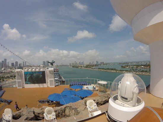 Norwegian Escape: Overlooking Spice H2O in Miami