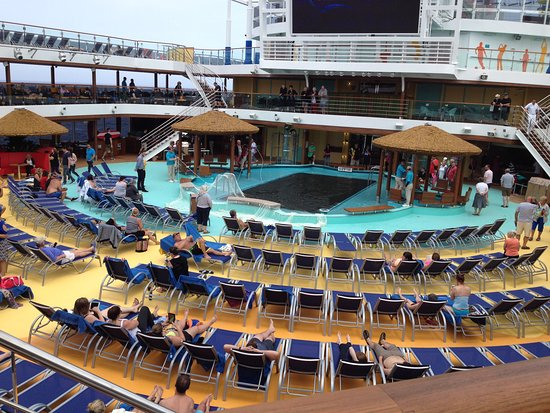 Carnival Vista: view right ouside our door, where Dive in movie was available