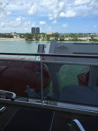 Balcony from cabin 8143 MSC divina