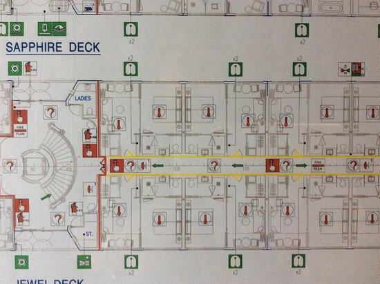 Scenic Spirit: Sapphire Deck Map (Deluxe Suites)