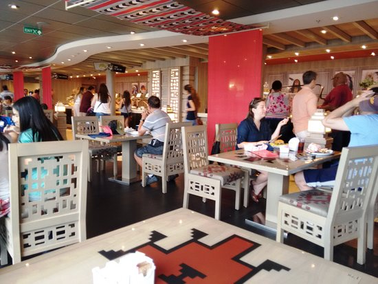 MSC Divina: Food Court at the 14th deck
