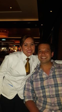Norwegian Escape: Our AMAZING waitress from Cagney's!!!