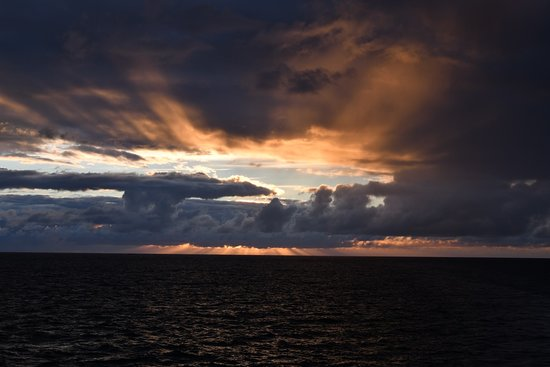 Seabourn Quest: Sunset view from the Quest