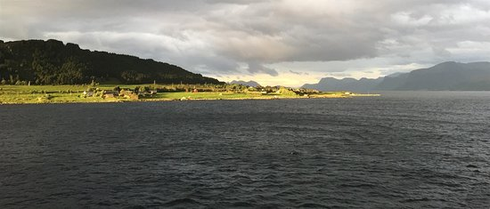 Seabourn Quest: Sun going down on coast of Norway
