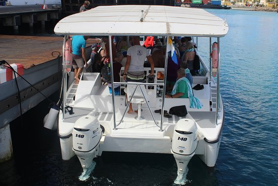 Double Dip Snorkel Trip: Back of the Sea Cow,  The front has the large ladders that drop into the water.