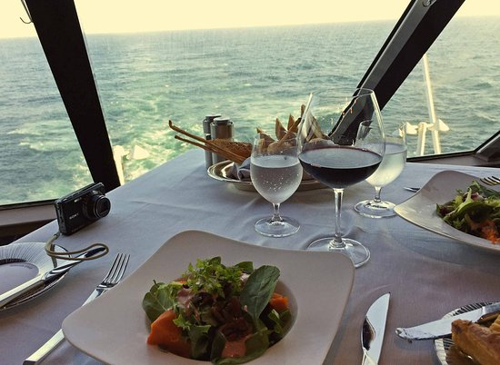 Sirena: Lovely view from stern table in Tuscan Steak
