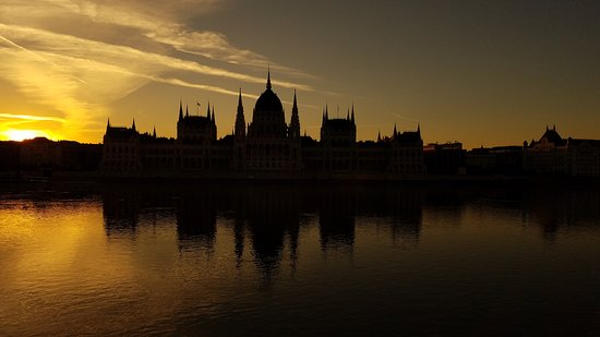 Scenic Amber: View from the ship of the Parliament building in Budapest.  We docked direc