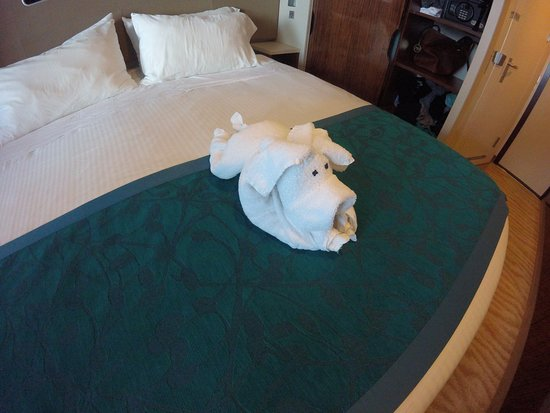 Norwegian Getaway: A pig done by our room steward