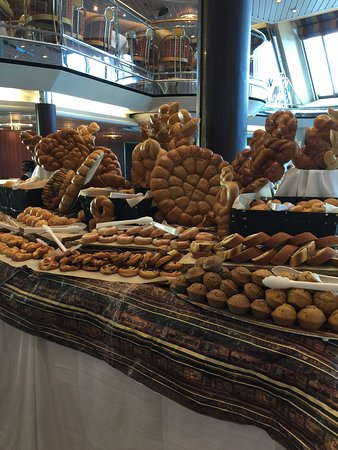 Empress of the Seas: Bread display on sea day brunch