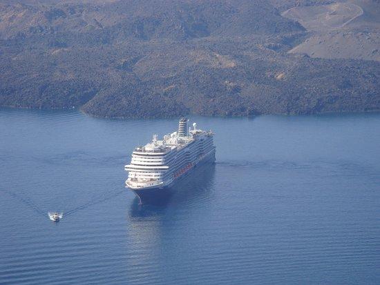 7 October 2016, MS Koningsdam at anchor in Santorini Greece