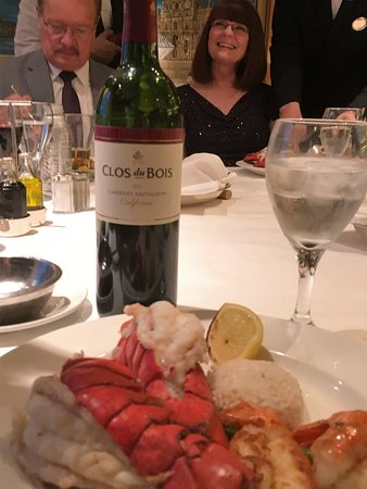 Regal Princess: The wine and lobster were great