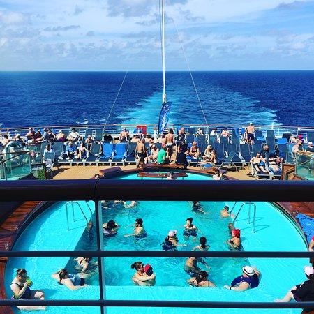 Carnival Breeze: Back of the ship, enjoying the beautiful day.