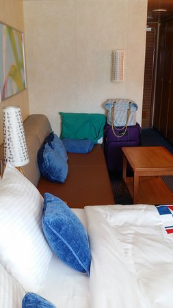 Carnival Breeze: Couch pulls out into a twin bed
