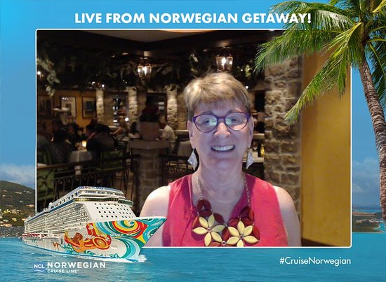 Norwegian Getaway: This is a free machine that takes a selfie of you and sends it to your comp