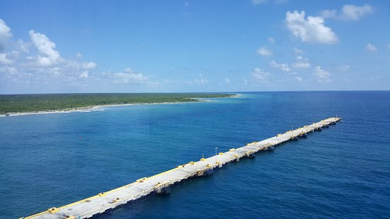 Norwegian Getaway: The view of Cozumel from the Thermal Spa