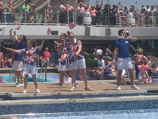 Britannia: If I never see another waving Union Jack and have to listen to loud music while trying to relax it will be too soon. Dreadful experience, complete rip off! Cruise cost over £8000 and when I complained I was offered an extra £100 on board spend if I booked again! Dream on P & O - that