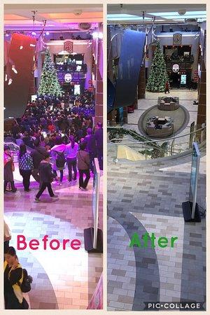 Quantum of the Seas: Before & After - Atrium