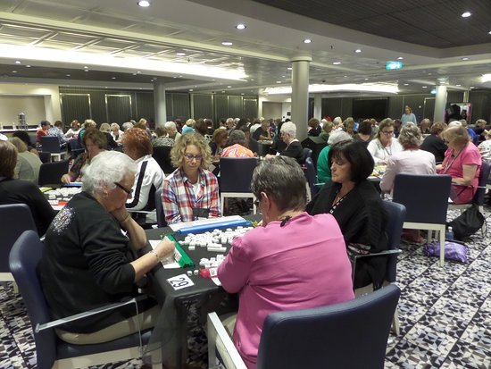 Harmony of the Seas: Playing Mah Jongg in the Harmony conference Room