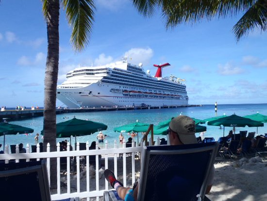 Carnival Sunshine from the beach at Grand Turk.