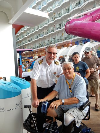 Harmony of the Seas: Capt. Jonny on the boardwalk