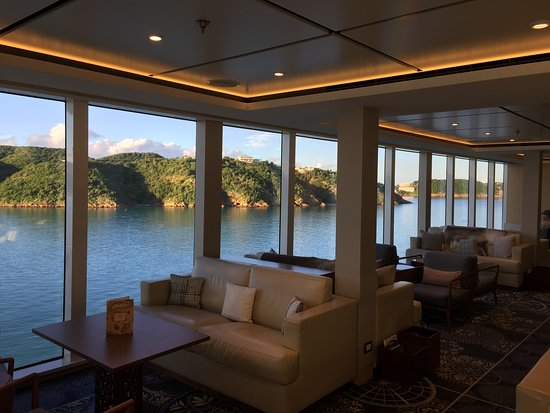 Viking Star: One of many quite area to sit and read a book or watch the world go by