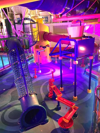 Norwegian Escape: Kids water park and pool area