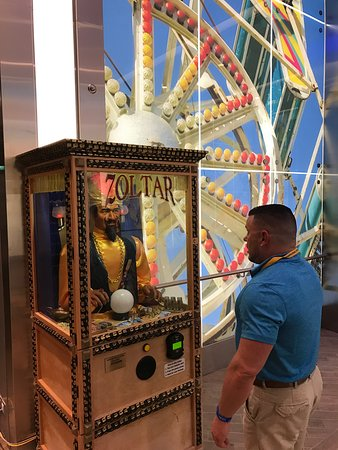 Harmony of the Seas: Zoltar!  He will tell you your fortune for a buck.   Just like the Allure.