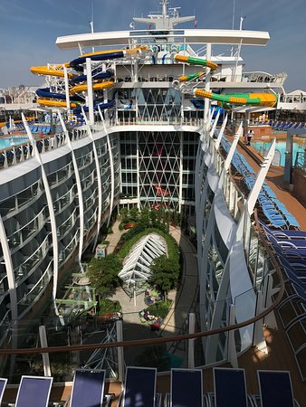 Harmony of the Seas: You can easily get dizzy looking at these incredible views.