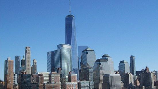 Norwegian Breakaway: Cruising past WTC site....