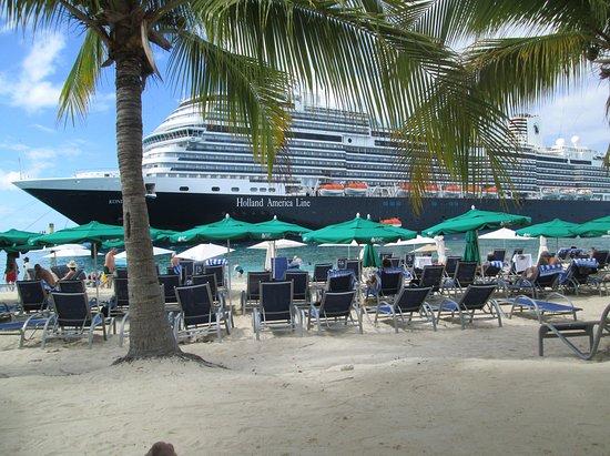 Koningsdam: Ship docked in Turks & Caicos.