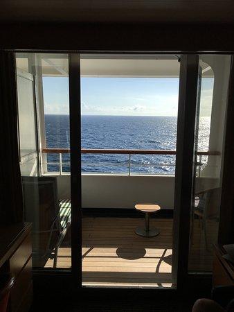 Pacific Aria: Cabin balcony