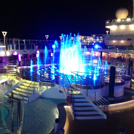 Water show on Regal Princess Lido deck.