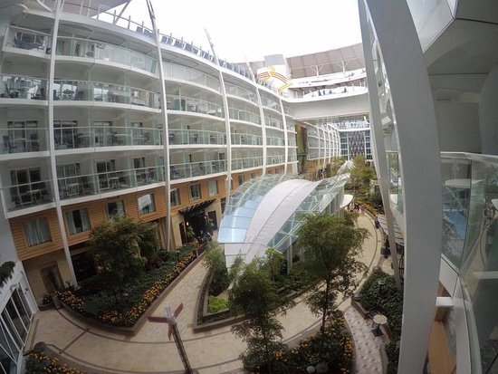 Harmony of the Seas: Vew from our balcony stateroom overlooking central park