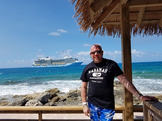 Anthem of the Seas: Myself on Royal Caribbean Private Island and our Private Ocean View Cabana