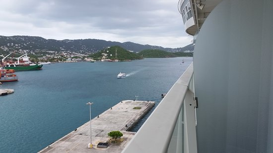 Harmony of the Seas: View from our cabin, St. Thomas