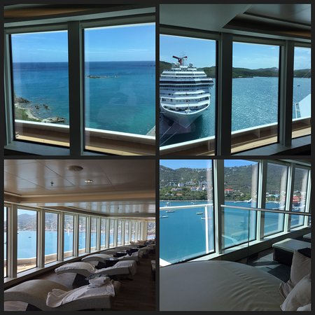 Norwegian Escape: View from the loungers in the Thermal Spa
