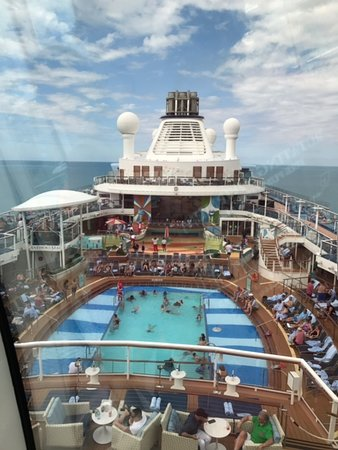 Anthem of the Seas: Picture from the NORTH STAR -above the ship