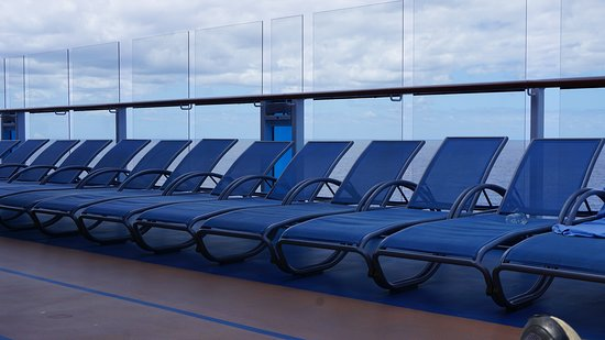 Anthem of the Seas: Chairs on Deck 16