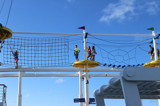 Carnival Vista: My kids had the most fun on the ropes course.