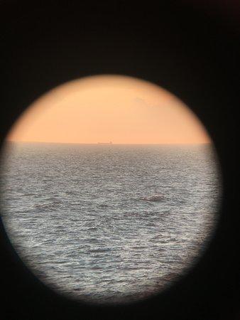 Norwegian Getaway: View via telescope